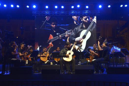Orquesta de Guitarras Adolfo Mejía (OGAM) - Artistas Festival Internacional de Guitarra Cartagena